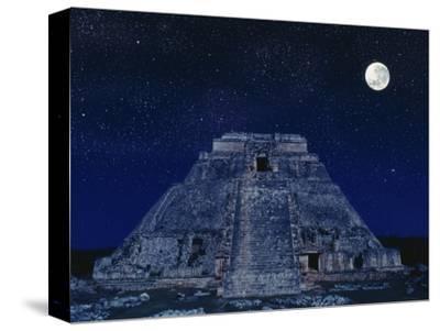 Pyramid of the Magician at Night
