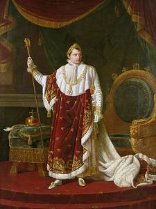 Portrait of Napoleon (1769-1821) in His Coronation Robes, 1811 by Robert Lefevre