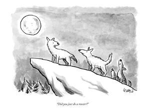 """""""Did you just do a rooster?"""" - New Yorker Cartoon by Robert Leighton"""
