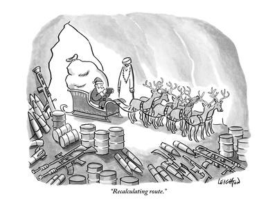 """Recalculating route."" - New Yorker Cartoon"