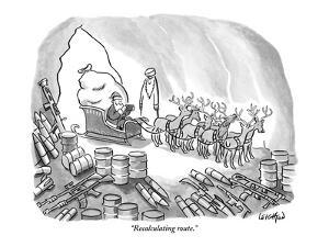 """Recalculating route."" - New Yorker Cartoon by Robert Leighton"