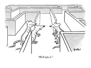 """We'll take it."" - New Yorker Cartoon by Robert Leighton"