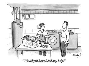 """""""Would you have liked any help?"""" - New Yorker Cartoon by Robert Leighton"""