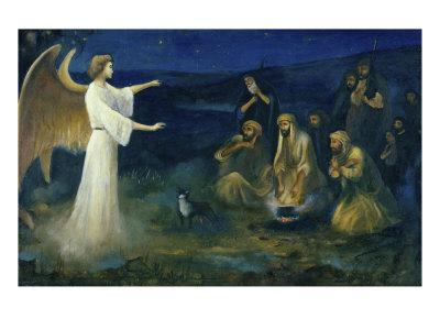 Angel Announcing the Birth of Christ to Shepherds