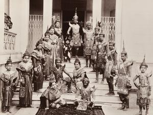 Thai Classical Dancers, C.1900 by Robert Lenz