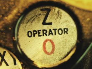 Operator Button on Telephone by Robert Llewellyn