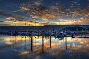 Seneca Lake Sunrise by Robert Lott