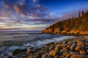 Sunrise on Otter Cliffs #4 by Robert Lott