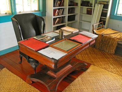Robert Louis Stevenson's Desk, Villa Vailima, Apia, Samoa--Photographic Print