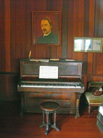 Robert Louis Stevenson's Piano in the Great Hall, Villa Vailima, Apia, Samoa--Photographic Print