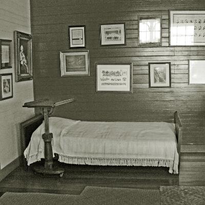 Robert Louis Stevenson's Sickbed with Writing Stand, Villa Vailima, Apia, Samoa--Photographic Print
