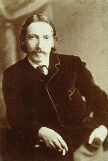 Robert Louis Stevenson, Scottish author, c1870-1894-Unknown-Photographic Print