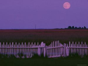 Moonrise over Smith Island by Robert Madden