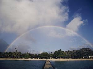 Rainbow Arching over the Island by Robert Madden