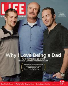 Dr. Phil McGraw with his Sons Jordan and Jay, June 17, 2005 by Robert Maxwell
