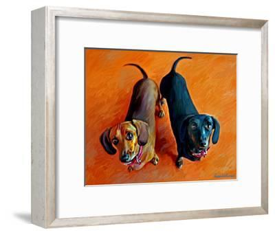 Double Dachsies by Robert Mcclintock