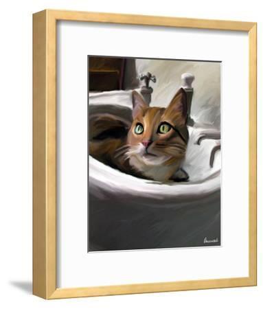 Orange Cat in the Sink