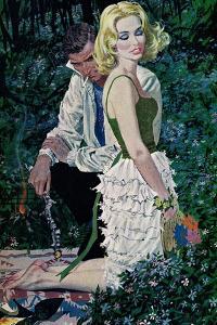 "Furtive Affair - Saturday Evening Post ""Leading Ladies"", May 7, 1960 pg.30 by Robert Mcginnis"