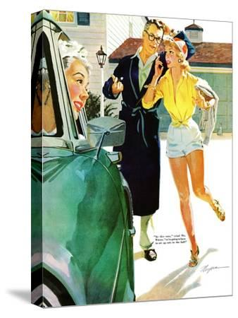 """Caroline's Men - Saturday Evening Post """"Leading Ladies"""", April 22, 1955 pg.26"""