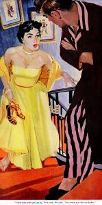 """I'm Over 21  - Saturday Evening Post """"Leading Ladies"""", October 31, 1953 pg.30 by Robert Meyers"""