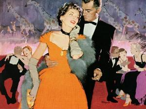 """Second Elopement  - Saturday Evening Post """"Leading Ladies"""", August 8, 1953 pg.24 by Robert Meyers"""