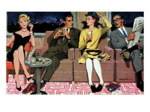 """The Artless Heiress, 2 - Saturday Evening Post """"Men at the Top"""", June 1, 1957 pg.17 by Robert Meyers"""