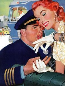 """The Pilot Hated Stewardesses - Saturday Evening Post """"Leading Ladies"""", May 15, 1954 pg.36 by Robert Meyers"""