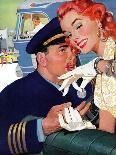 "The Girl Next Door  - Saturday Evening Post ""Leading Ladies"", October 6, 1956 pg.30-Robert Meyers-Giclee Print"