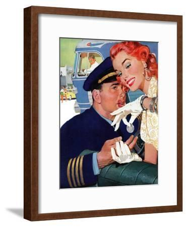 """The Pilot Hated Stewardesses - Saturday Evening Post """"Leading Ladies"""", May 15, 1954 pg.36"""