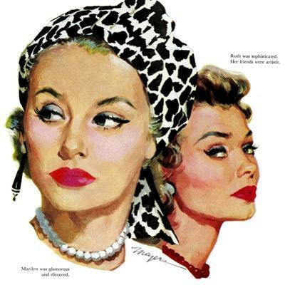 "Those Midford Girls, B - Saturday Evening Post ""Leading Ladies"", December 31, 1955 pg.15"