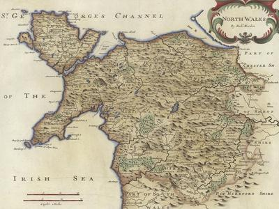 Map of North Wales
