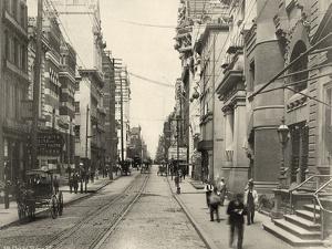 Chestnut Street, West from 3rd Street, C.1885 by Robert Newell