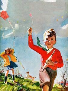 Flying Kites - Child Life by Robert O. Skemp