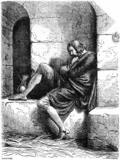Robert of Normandy a Prisoner in Cardiff Castle- Oupre-Giclee Print