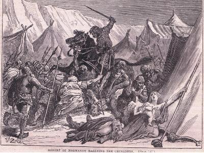 Robert of Normandy Rallying the Crusad Ers Ad 1097-Francois Edouard Zier-Giclee Print
