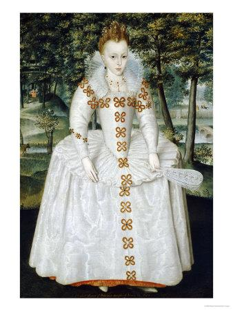 Portrait of a Lady, Traditionally Identified as Queen Elizabeth of Bohemia, Dated 1603