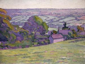 A Devonshire Valley, Number 1 by Robert Polhill Bevan