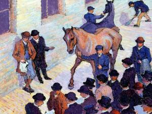 A Sale at Tattersalls, 1911 by Robert Polhill Bevan