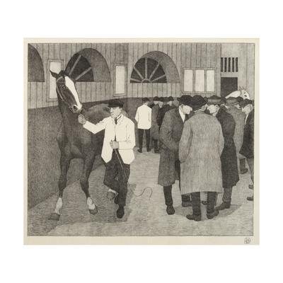 Horse Dealers at the Barbican, 1921