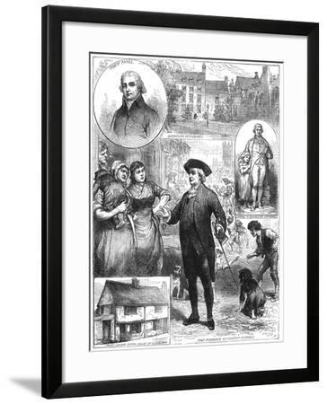 Robert Raikes, Founder of the Sunday School Movement, 1780--Framed Giclee Print
