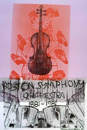 Boston Symphony Orchestra by Robert Rauschenberg