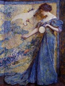 The Mirror, C. 1910 by Robert Reid