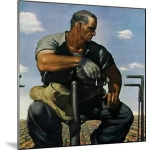 """""""Farmer on Tractor,""""May 1, 1944 by Robert Riggs"""