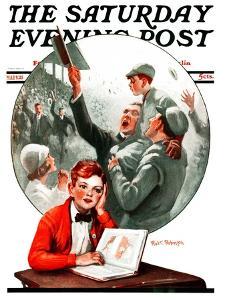 """""""Daydreams of Baseball,"""" Saturday Evening Post Cover, May 9, 1925 by Robert Robinson"""