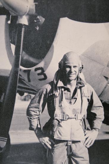 Robert S. Johnson, WW2 American Air Ace, 1943-5--Photographic Print