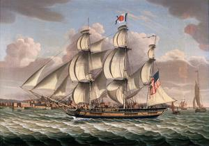American Merchant Ship Aristides by Robert Salmon
