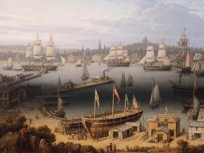 Boston Harbor, 1843