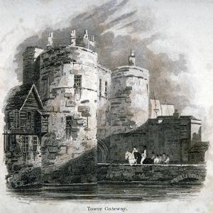South View of the Tower of London with Figures on Horseback, C1810 by Robert Sands
