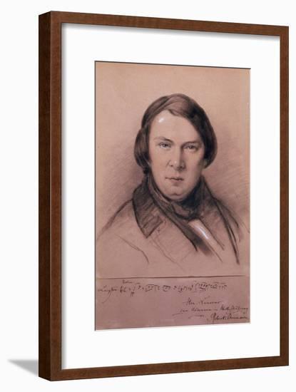 Robert Schumann, German Composer, Mid-19th Century-Jean Joseph Bonaventure Laurens-Framed Giclee Print
