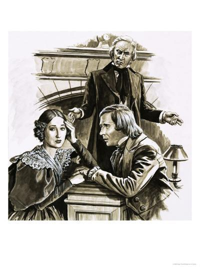 Robert Schumann's Proposal to Pianist Clara Wieck Was a Turning Point in His Life-Roger Payne-Giclee Print